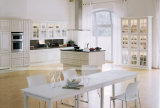 Gabinete de cozinha moderno do PVC do estilo da forma do projeto de América