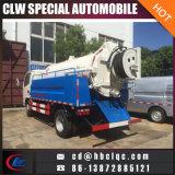 Dongfeng 4000Lの組合せの浚渫のトラックの市下水管浚渫タンクトラック