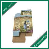 Caixa de papel feita sob encomenda de impressão para o vinho