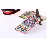 손가락으로 튀김 지갑 PU Samsung를 위한 가죽 전화 상자 인쇄