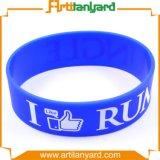Wristband do silicone de Colorfur do projeto do cliente