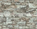 يدهن [ستيل شيت] مع تصميم وأسلوب بما أنّ حجارة, خشب, بناء