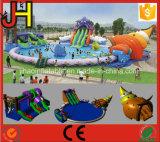 Diapositiva de agua inflable gigante de la venta caliente con la piscina para el juego al aire libre de la diversión