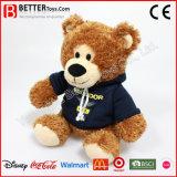 O presente de Promation encheu/delicado/urso da peluche brinquedo do luxuoso em Hoodie