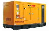 Unir el motor diesel insonoro de la potencia 100kw Cummins que genera el conjunto