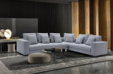Установленная софа ткани комнаты домашней мебели самомоднейшая живущий (HC561)