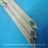 1.2kvガラス繊維の電気に絶縁体の袖のシリコーンのガラス管ケーブルのスリーブを付けること