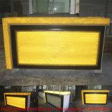 Tabela da barra do restaurante do contador da barra do bufete da fábrica da forma do diodo emissor de luz e gabinete contemporâneos da barra