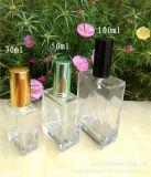 frasco de perfume de vidro transparente do pulverizador 50ml