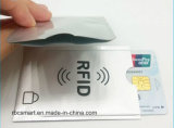 Anti-Theft обеспеченность RFID кредитной карточки преграждая втулки протектора держателя пасспорта