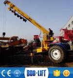 유압 소형 두바이에 있는 트랙터에 의하여 거치되는 기중기