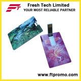 Movimentação dada forma do flash do USB do cartão de crédito com logotipo