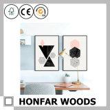 Moldura de foto de madeira preta moderna personalizada