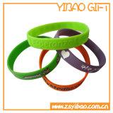 Kundenspezifischer SilikonWristband mit Tinte gefülltem Debossed Firmenzeichen (YB-SW-09)