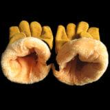 Kuh-aufgeteiltes Leder-Jersey-Zwischenlage-Fahrer-Arbeits-Handschuh