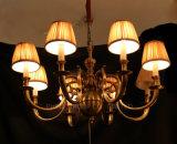Weiße Gewebe-Farbton-Dekoration-hängender Hotel-Projekt-Leuchter