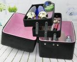 고품질 아름다움 3개의 층 메이크업 저장 상자