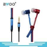 3.5mm 입체 음향 에서 귀 마이크 헤드폰 이동 전화 지퍼 이어폰