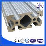 Extrusión de Aluminio T Sección carril inferior 6063 T5