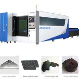 máquina de estaca inoxidável do laser da fibra do CNC da placa de aço de 3000W Wuhan