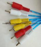 Hoge snelheid 3r aan 3r Audio/VideoKabel AV RCA