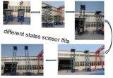 El manual doble de los cilindros Scissor la plataforma de la elevación