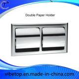 Support de papier d'acier inoxydable de salle de bains de qualité