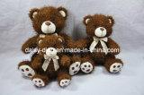 Ursos de assento escuros da peluche de Brown com Bowtie (a pele está disponível)
