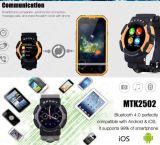 ¡Multilingüe! Soporte impermeable elegante Mic Bluetooth del notificador de la sinc. del reloj A10 del reloj No. 1 para el color elegante del gris del reloj del teléfono androide