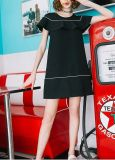 Платье молодости белого Falbala образца Black& симпатичное