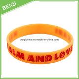 Bracelets de silicones personnalisés par coutume bon marché de qualité