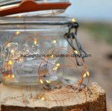10m 100LEDの銅線の作動する小型豆電球ストリングUSB