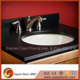 Black Polished Bathroom Quartz Vanity Top Countertop
