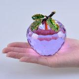 pisapapeles grande de Apple del vidrio cristalino de 80m m para los recuerdos