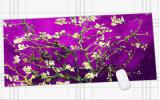 광학적인 Laser 마우스를 위한 Anti-Slip 마우스 패드 마우스 패드 매트 마우스 패드가 자주색에 의하여 꽃이 핀다