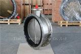 O dobro do aço inoxidável flangeou válvula de borboleta com ISO Wras do Ce aprovado (CBF01-TF01)