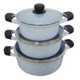 Insieme di alluminio variopinto del Cookware del rivestimento di ceramica dell'articolo da cucina