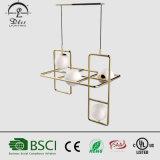 2017 neueste Entwurfs-hängende Lampe mit Glaskugel-hängendes helles Metallmoderner hängender Beleuchtung für Projekt