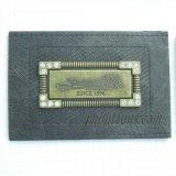 금속을%s 가진 돋을새김된 로고 주문 모조 다이아몬드 PU 레이블