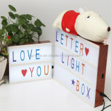 Caixa leve da letra para a decoração