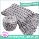 Écharpe tissée à la mode faite sur commande tricotée de collet acrylique de polyester