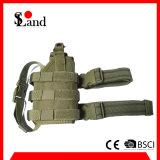 Bolso verde militar de la pistolera de la pistola de la pierna