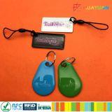 Wasserdichtes Tk4100 Em4200 RFID Silikon intelligente EpoxidKeychain keyfobs des Laserdruck-