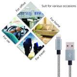 Heiße Verkäufe 1/2m/3m Nylon-umsponnenes Daten-Kabel 8pin USB-Kabel für iPhone 5 6 7 Plus