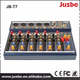 Misturador de Vídeo Áudio Jb-T7 7 Channel DJ Mixer com USB