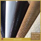 Кожа подгонянная высоким качеством искусственная синтетическая & кожа Faux для ботинок (S305120BZW)
