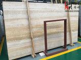 Слябы мрамора зерна естественного каменного золота деревянные для плиток настила/плакирования/строительного материала стены