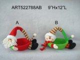 """5 """" Hx54 """" L decorazione della lettera Garland-3asst-Christmas del pupazzo di neve Reindeer+Greeting della Santa"""