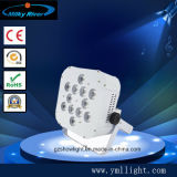 Luz magro UV da PARIDADE do diodo emissor de luz de Uplight 12PCS da bateria de lítio do preço de fábrica de Guangzhou, arruela da parede do banquete de casamento