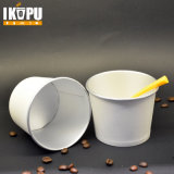 Papier2oz eiscreme-Cup mit Kappen und Löffeln